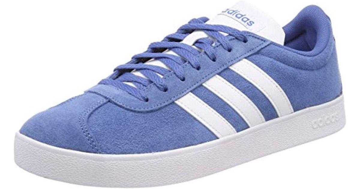 Adidas Blue Vl Court 2.0 Fitness Shoes, Blau (azretrftwbla Negbas 000), 9.5 Uk for Men Lyst