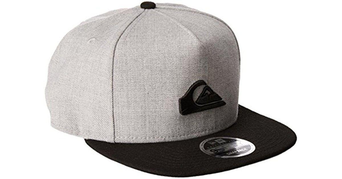 Lyst - Quiksilver Shortuckles Snap Hat in Gray for Men 34d4d89de149
