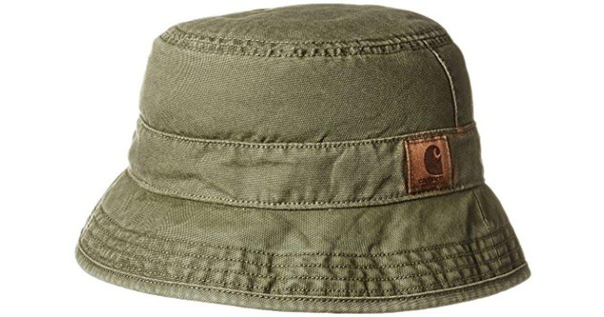 7cbaa9575 Carhartt Green Fircrest Bucket Hat for men