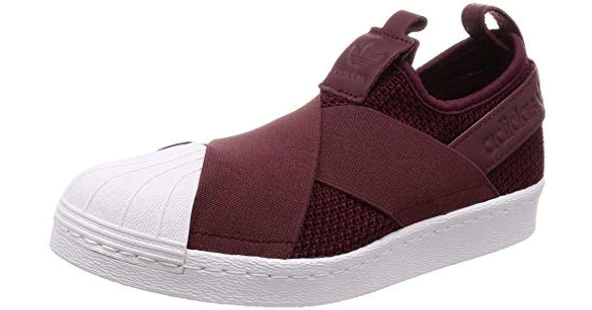 sports shoes eee39 083e3 Adidas Purple Superstar Slip On W Training Shoes, Multicolour  (bordeaux/white B37371), 3.5 Uk