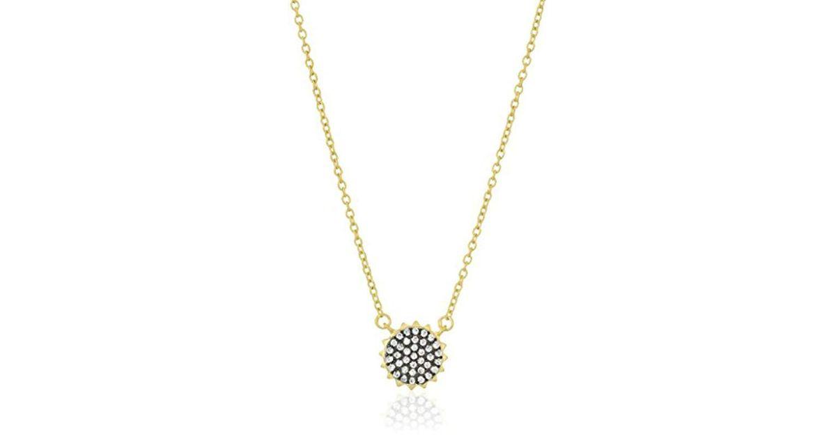 Lyst Freida Rothman S Signature Pave Pendant Necklace Black