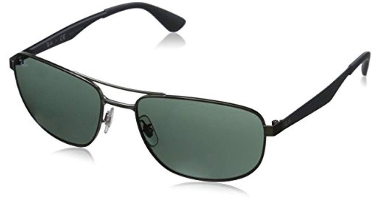 8e379e6343 Ray-Ban Metal Sunglasses In Matte Black Green Rb3528 006 71 61 in Green for  Men - Lyst