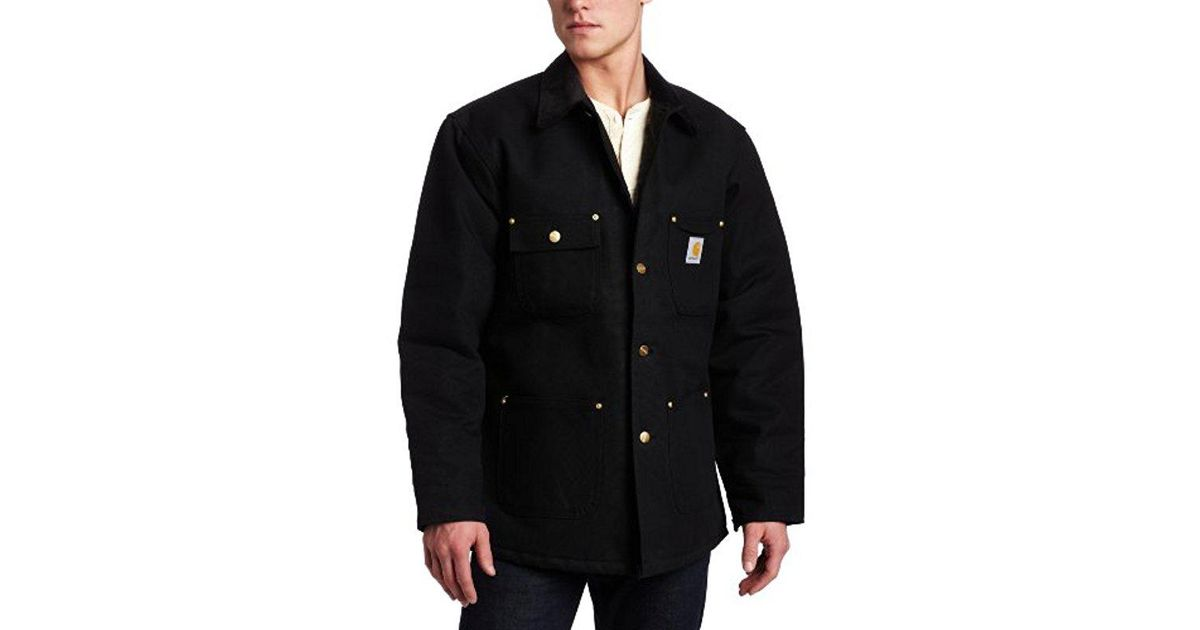 f4e41198a42f Lyst - Carhartt Big   Tall Duck Chore Coat Blanket Lined C001 in Black for  Men