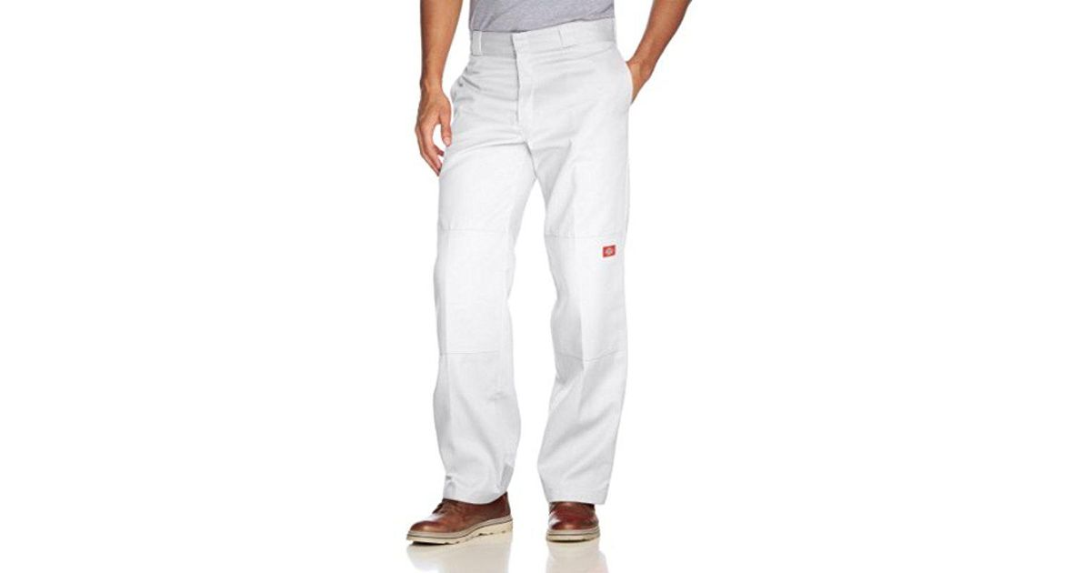 a3c979d4b6b1b Lyst - Dickies Loose Fit Double Knee Twill Work Pant in White for Men -  Save 6.849315068493155%