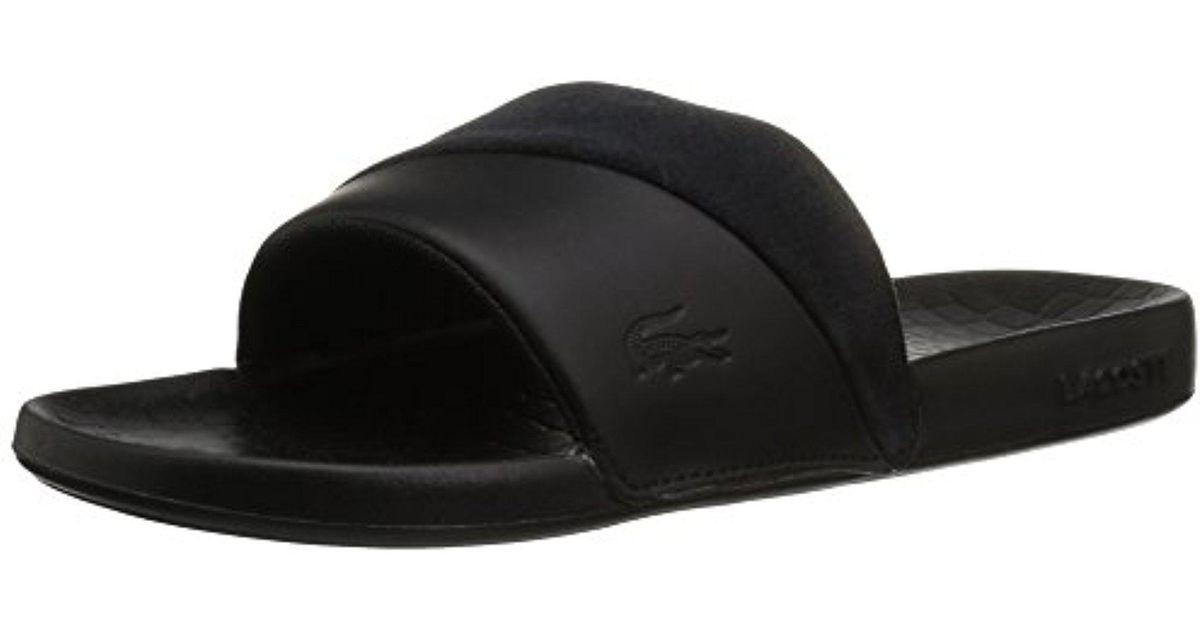 3de96c75bea8 Lyst - Lacoste  s Fraisier And Slides in Black - Save 31%