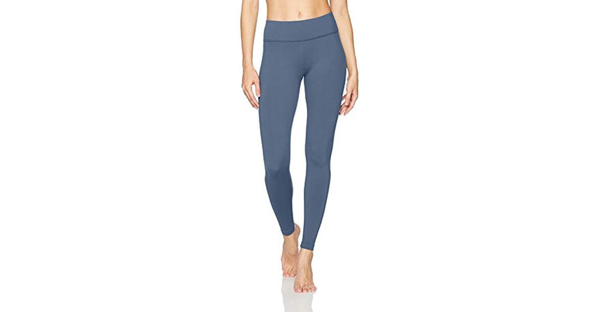 fa792ec842ede Lyst - Danskin Signature Wide Waist Yoga Ankle Legging in Blue
