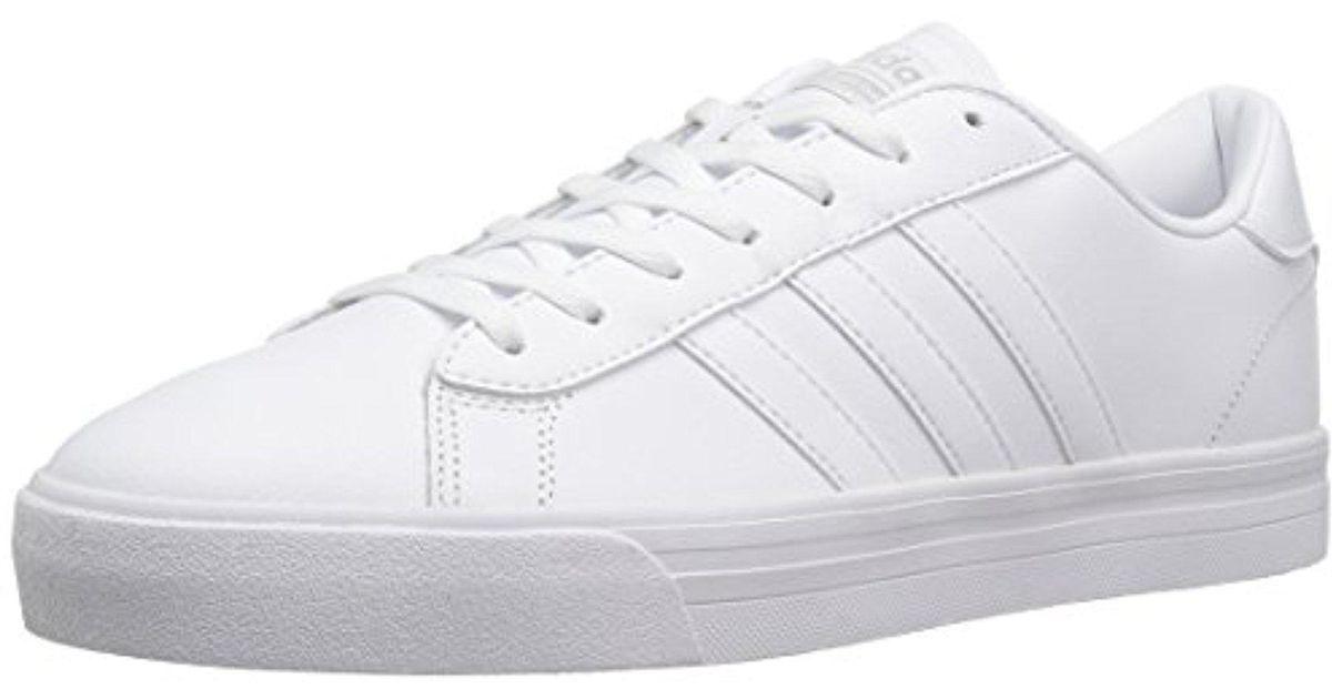 Adidas White Neo Cloudfoam Super Daily Fashion Sneaker for men