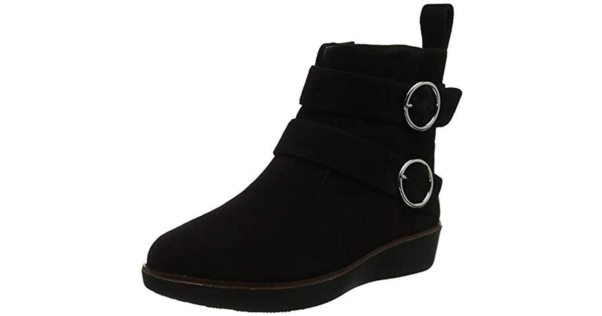 88805eeeedf8 Fitflop  s Oona Buckle Ankle Boots in Black - Lyst