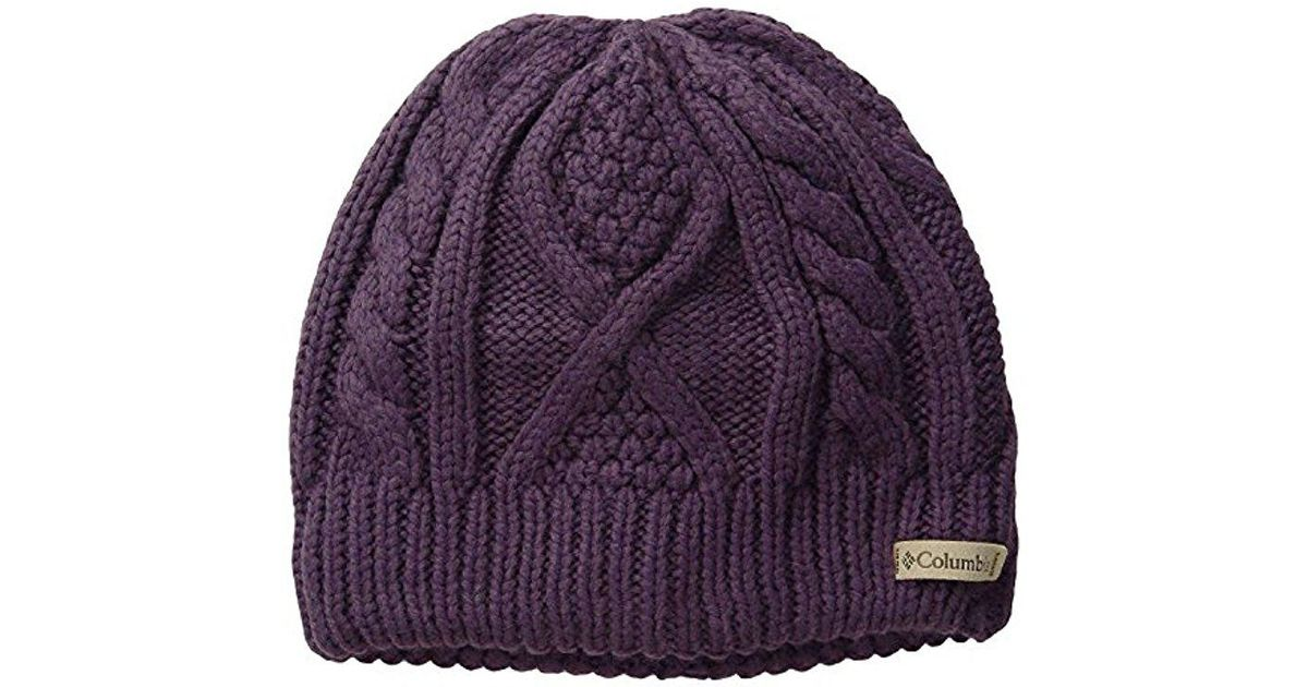 Lyst - Columbia Cabled Cutie Beanie in Purple 5be894d1fbe