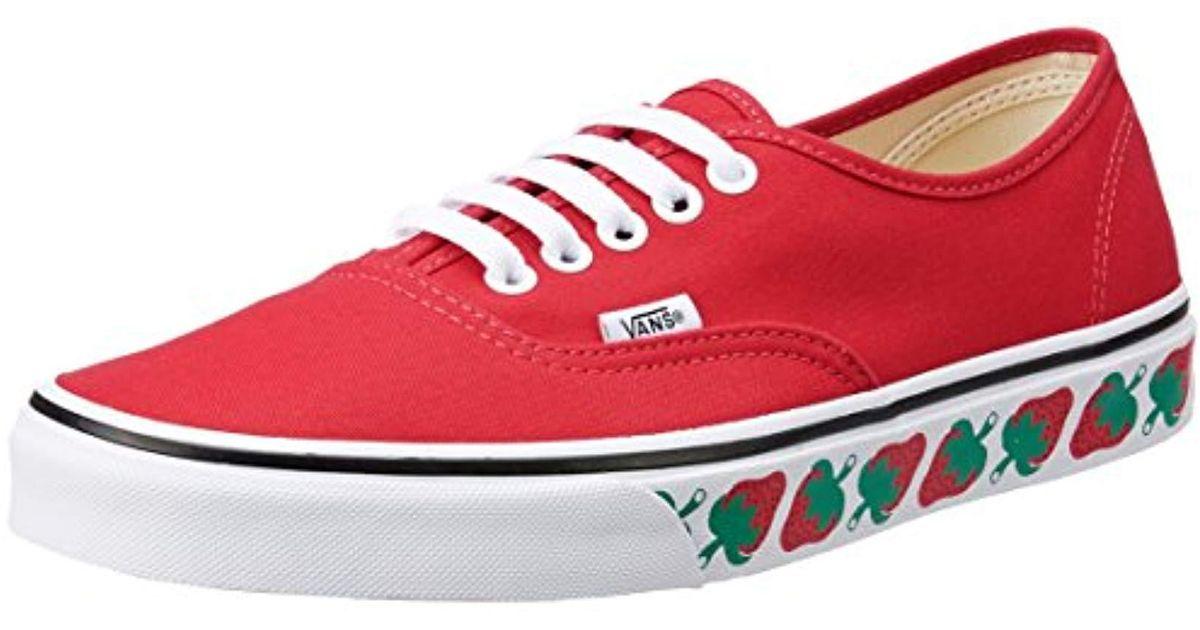 red low top vans