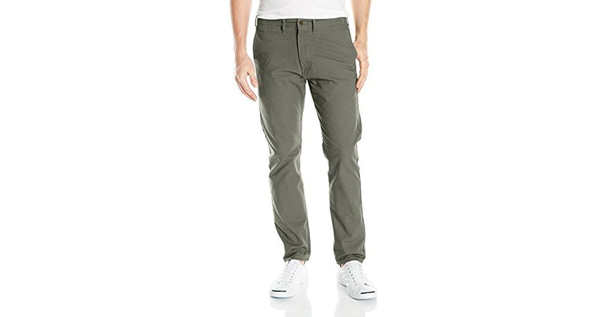 6f609e3126a Levi's 502 Regular Taper Fit Chino Pant, Dusty Green Stretch Twill, 28 32  in Green for Men - Save 12% - Lyst