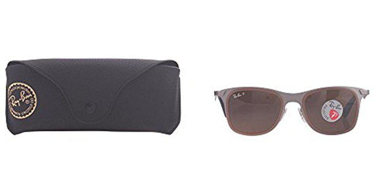 7c9990a66df Lyst - Ray-Ban Steel Man Sunglass - Matte Gunmetal Frame Polar Brown Lenses  50mm Polarized in Brown for Men