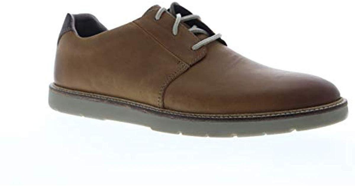 billetera diamante organizar  Clarks Leather Grandin Plain Shoe in Dark Tan Leather (Brown) for Men - Lyst