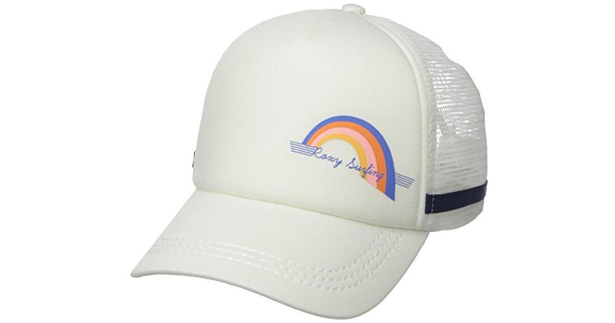 2f99e9d13b6e7 ... coupon lyst roxy juniors one size dig this trucker hat in white for men  606b9 73f83