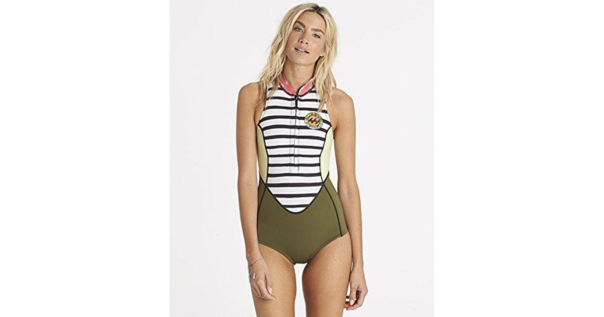 d6aa2ae414 ... Lyst - Billabong Surf Capsule Neoprene Sleeveless Wetsuit One Piece  Swimsuit in Green new style 4f781  Billabong Womens 32MM Synergy Chest Zip  ...