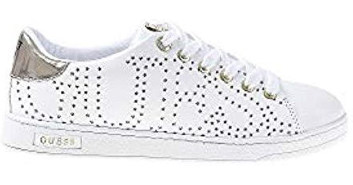 detailed look 4a7cd aa78e Guess Fl5crtlea12 White Footwear Pre Sneakers Donna 40