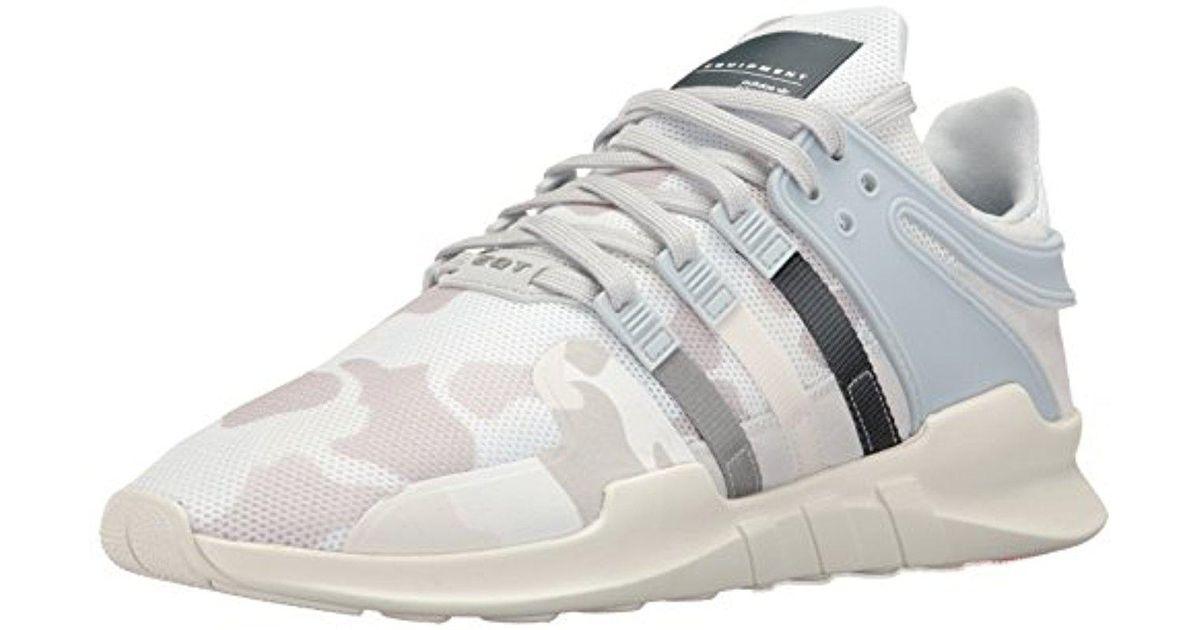 lyst adidas originali adidas eqt appoggio avanzata moda scarpe bianche
