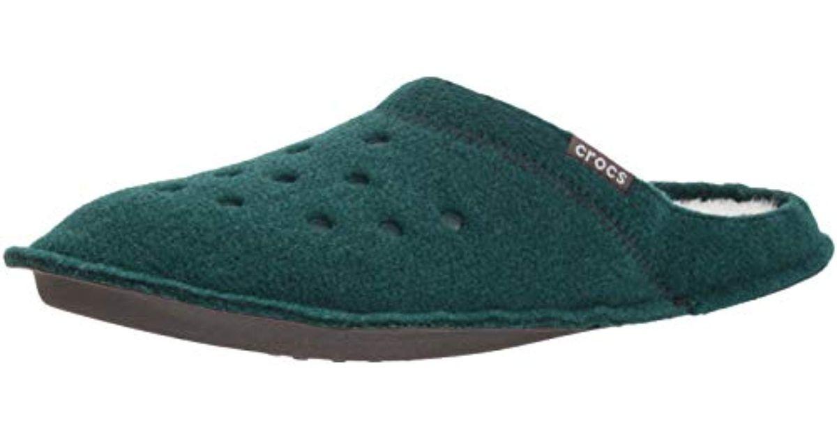 nowe style najwyższa jakość więcej zdjęć Crocs™ Green And Classic Slipper, Comfortable Slip On House Shoe With Soft  Fuzzy Liner for men