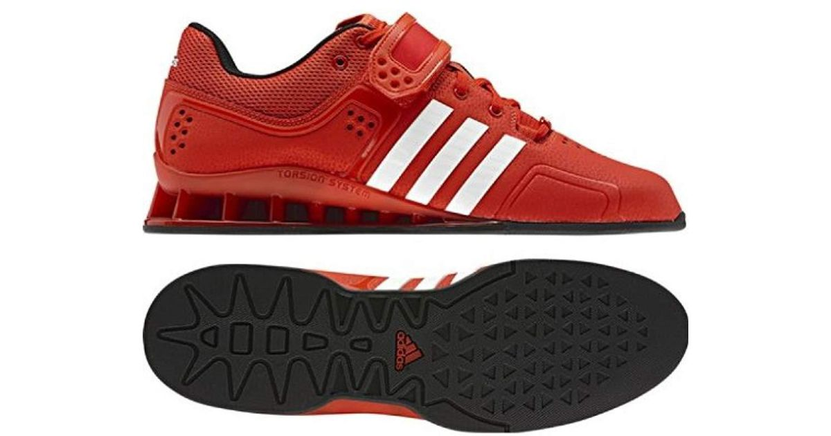 low priced e664a b11e1 adidas Adipower, Unisex Adults  Weightlifting Shoes in Red for Men - Lyst