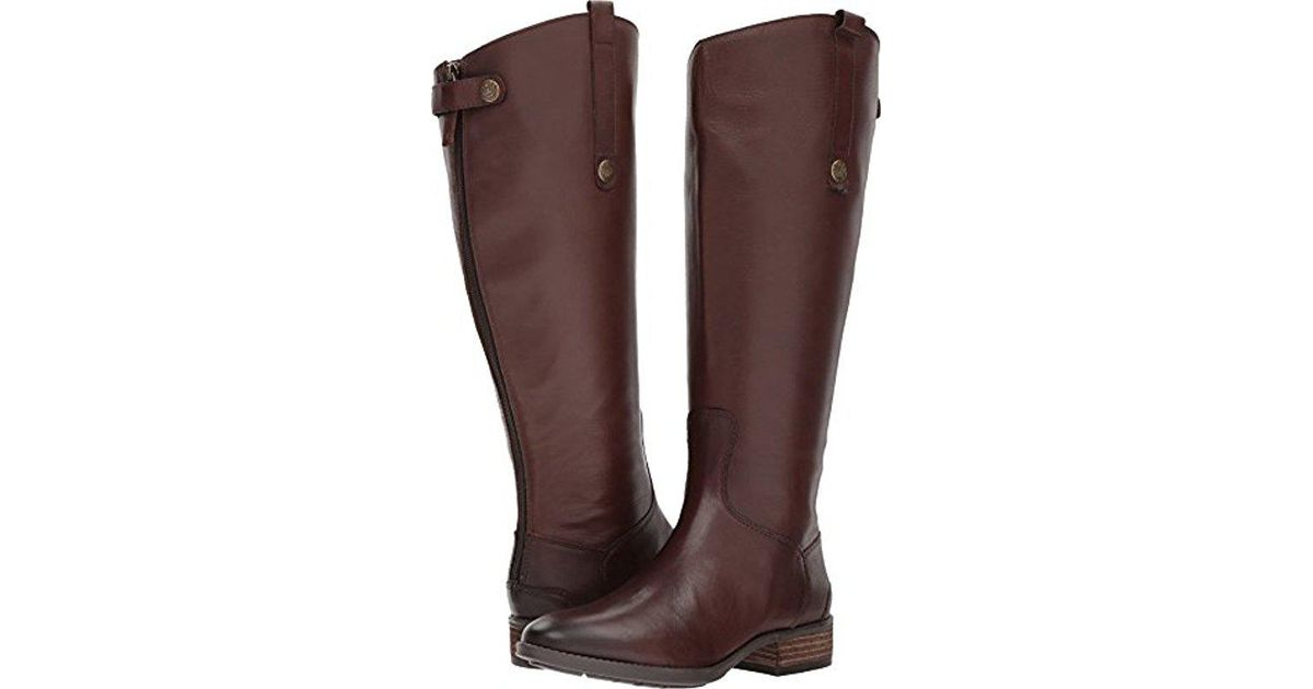 d6f26402f784a Lyst - Sam Edelman Penny 2 Wide-shaft Riding Boot in Brown - Save 31%