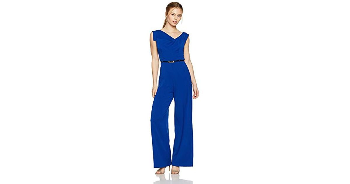 422b14cfe83 Lyst - Black Halo Petite Jackie Jumpsuit in Blue