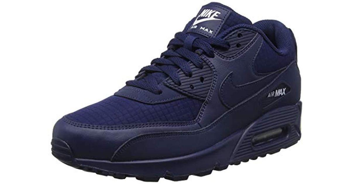 Nike Air Max 90 Essential Gymnastics Shoes, Blue (midnight