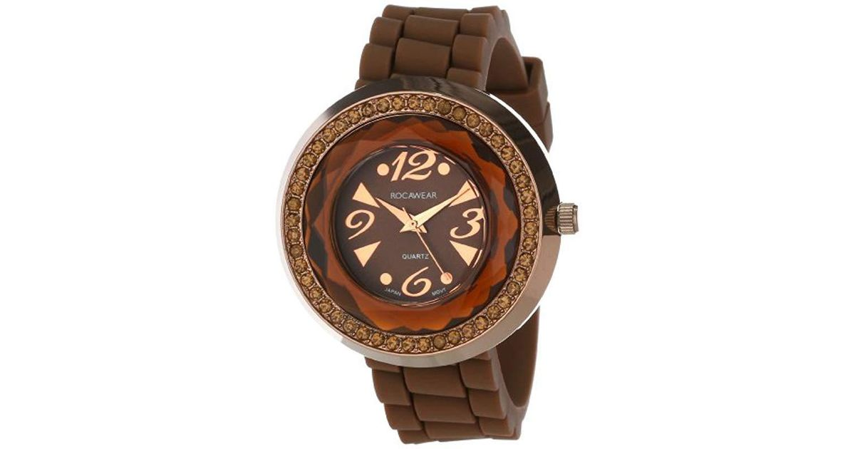 Lyst Rocawear Quartz Brass And Alloy Sport Watch Colorbrown