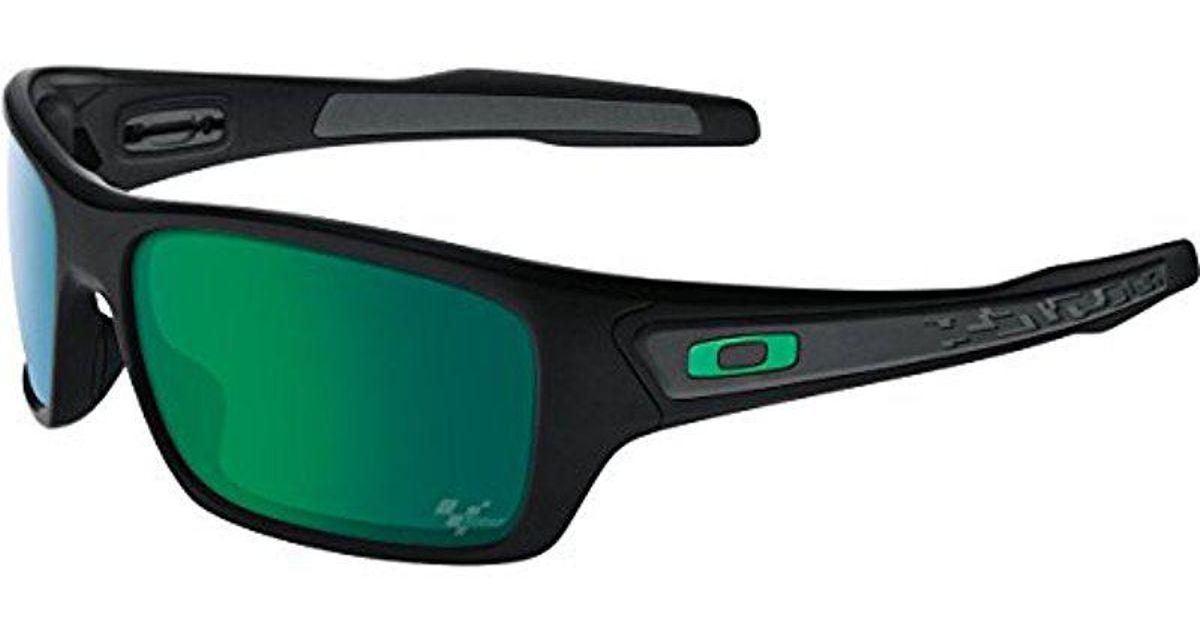 af54e60f801 Lyst - Oakley Turbine Oo9263-17 Non-polarized Iridium Wrap Sunglasses in  Black for Men - Save 44%