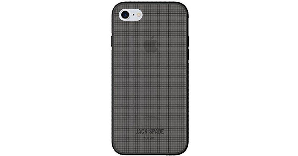 315fd0e23099a Jack Spade Cell Phone Case For Apple Iphone 7 - Tech Oxford Gray/black for  men