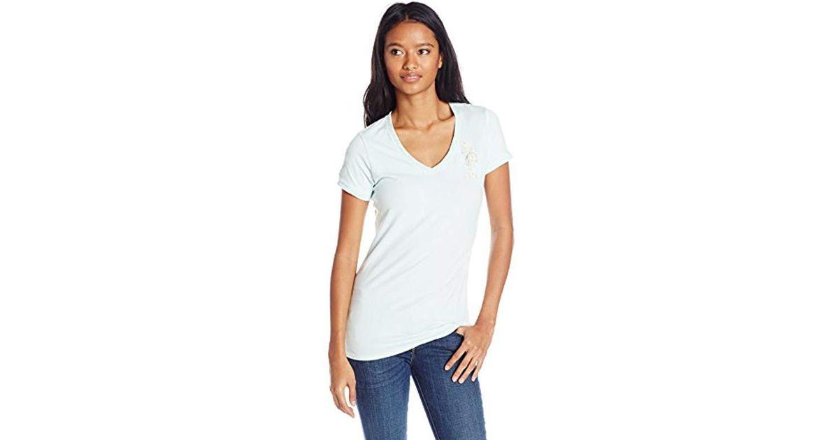 f45246d4de0 Lyst - U.S. Polo Assn. Juniors  V-neck Short-sleeve T-shirt