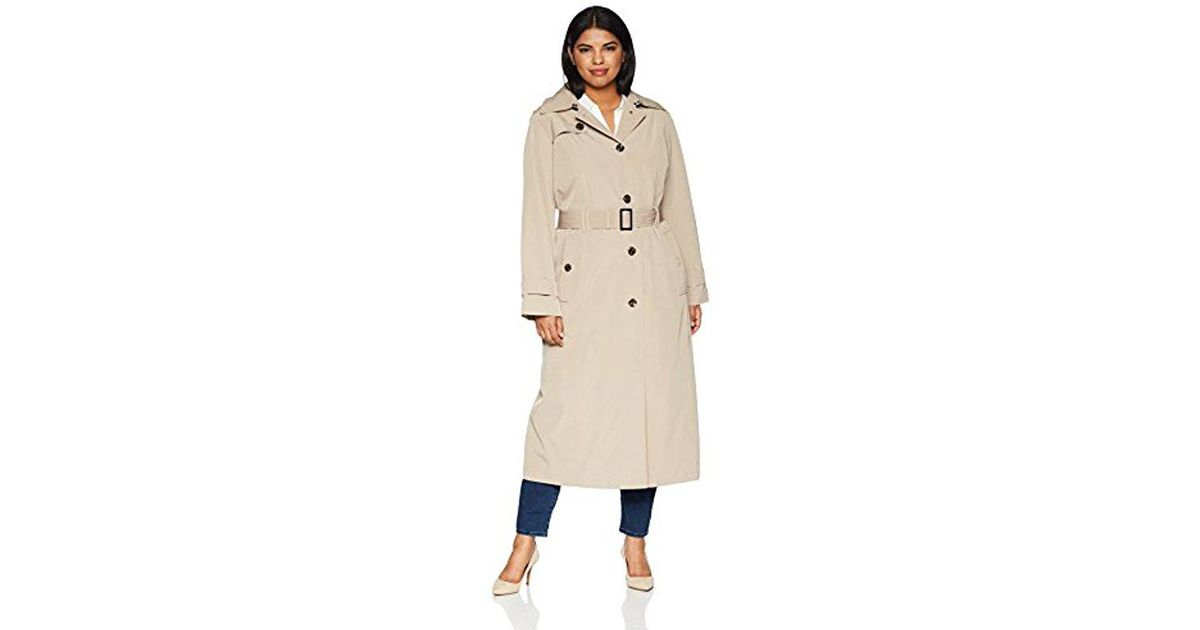 4315008fb38 Lyst - London Fog Plus Size Maxi-length Trench Coat in Natural