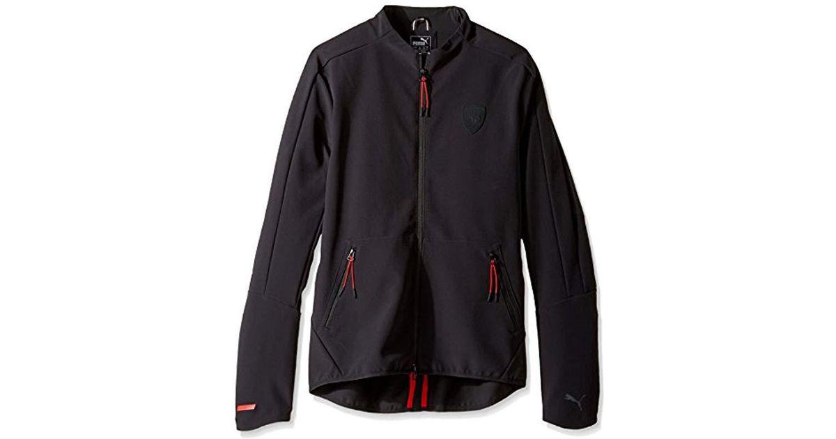 c0e0eaedd66b3 PUMA Black S Ferrari T7 Jacket Warm Up Or Track Jacket for men