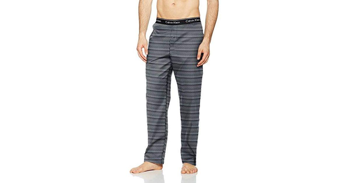 b43c5322bef Calvin Klein Pj Pant Pyjama Bottoms in Black for Men - Lyst