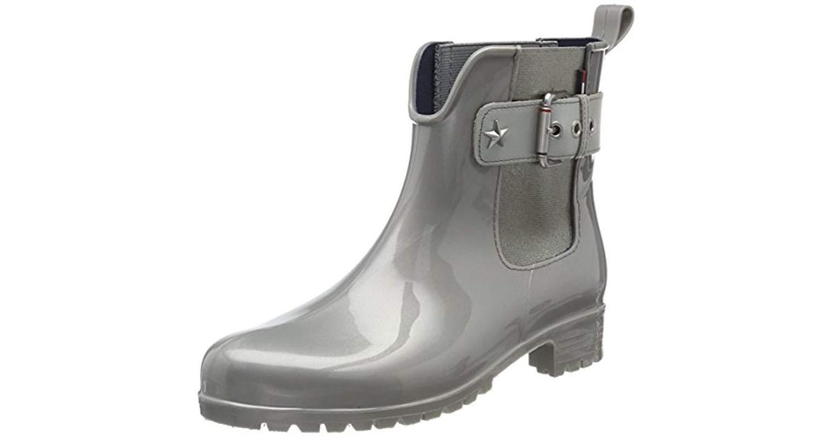dbc7359ee40603 Tommy Hilfiger  s O1285xley 14v3 Wellington Boots in Gray - Lyst