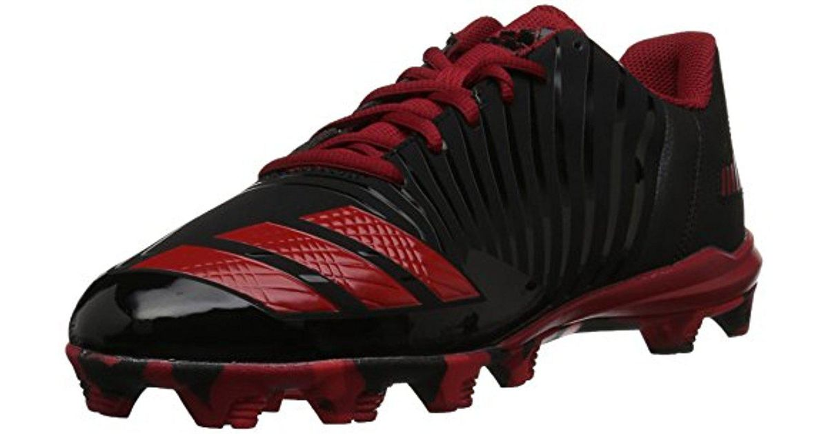 adidas Men's Freak X Carbon Mid Baseball Shoe Black/White/Power Red 12 D(... New