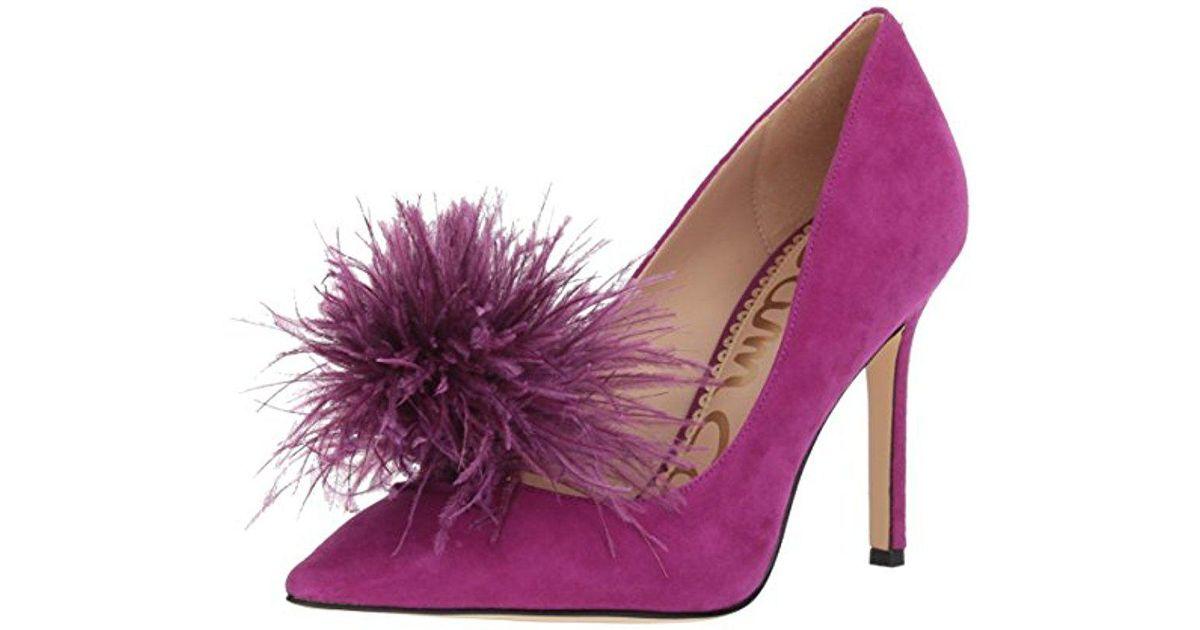 67ad3ef5556caa Lyst - Sam Edelman Haide Pump in Purple