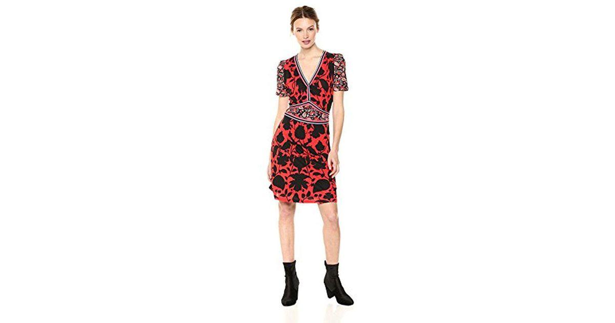 341123650969 Lyst - Desigual Celestino Short Sleeve Dress in Red