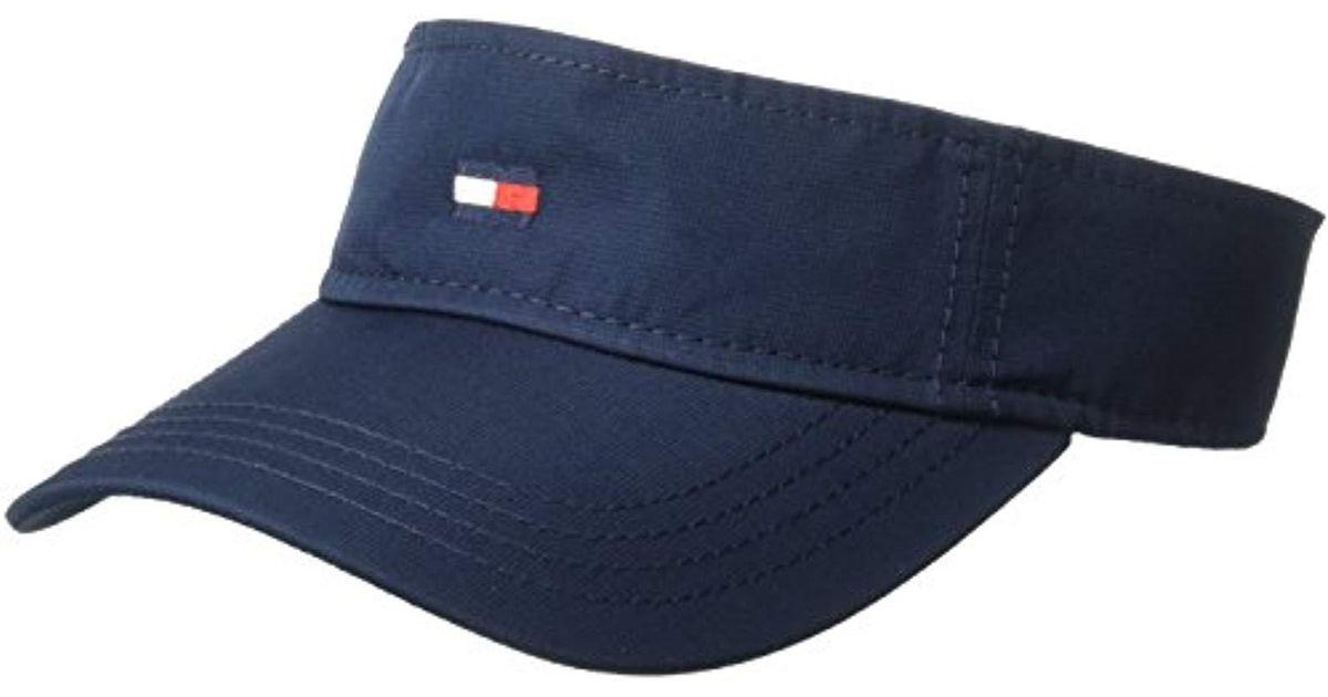 bc6c2b4ed62 Lyst - Tommy Hilfiger Flag Nylon Visor in Blue for Men