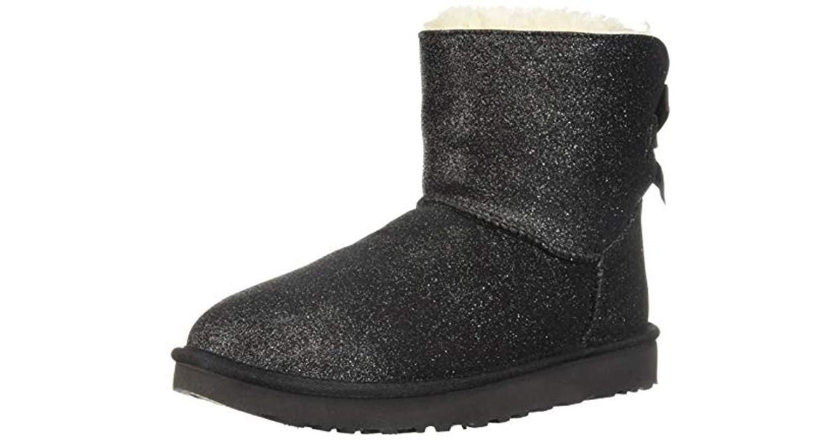 7e2bbd4d71d Ugg Black W Mini Bailey Bow Sparkle Fashion Boot