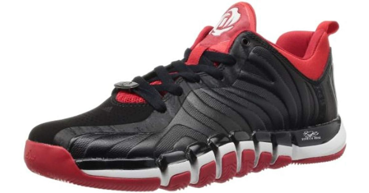 Adidas Black D Rose Englewood Ii Basketball Shoes for men