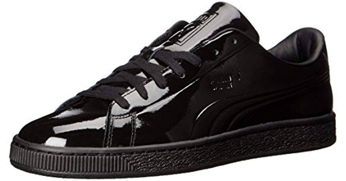 PUMA Men's Basket Classic Patent Sneakers