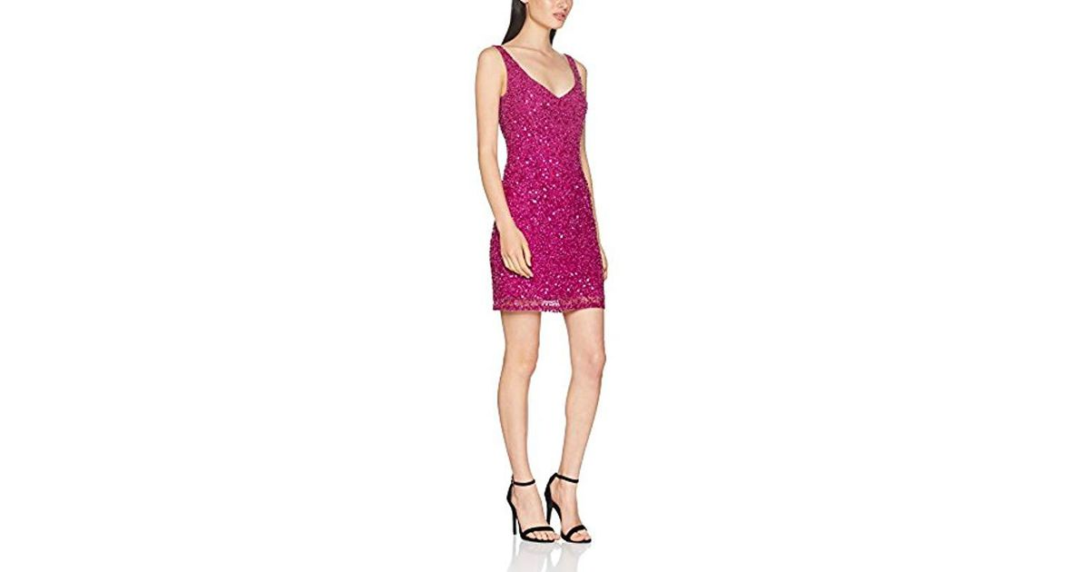 4ef268d3b878 French Connection Helen Sparkle Strappy Dress in Pink - Lyst