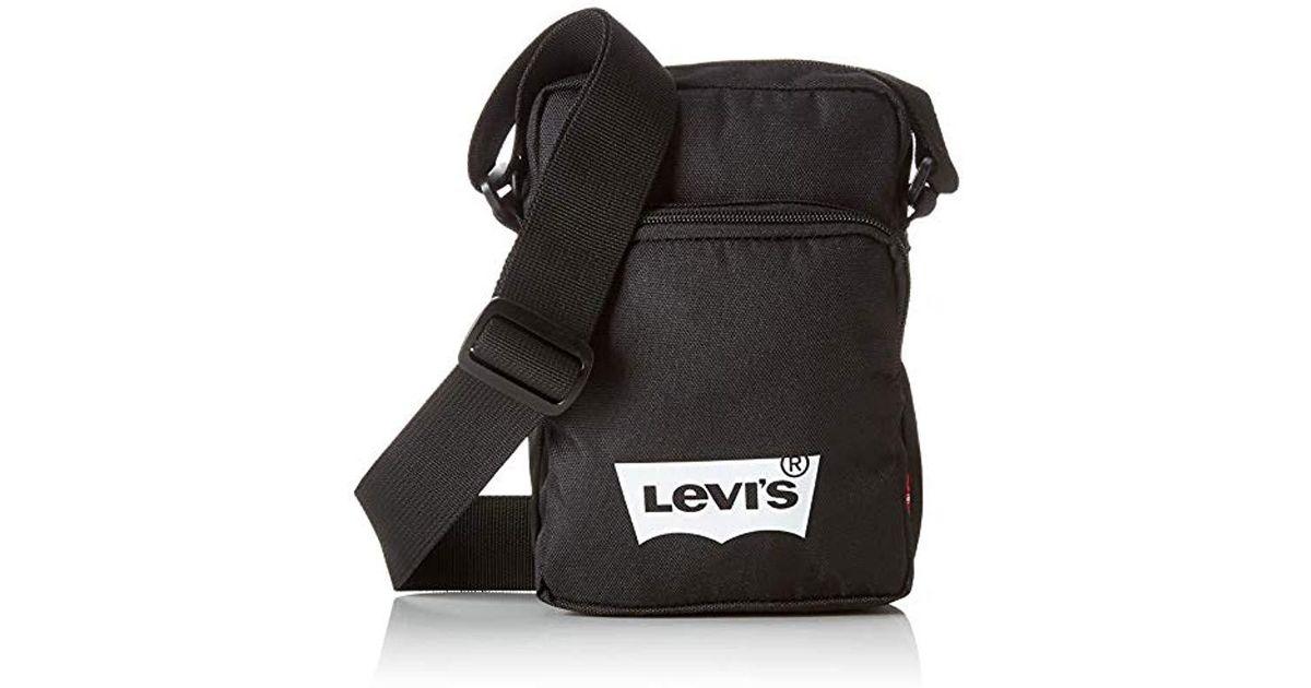 1e4fea96c Levi's Levis L Series Small Cross Body Messenger Bag in Black for Men - Lyst