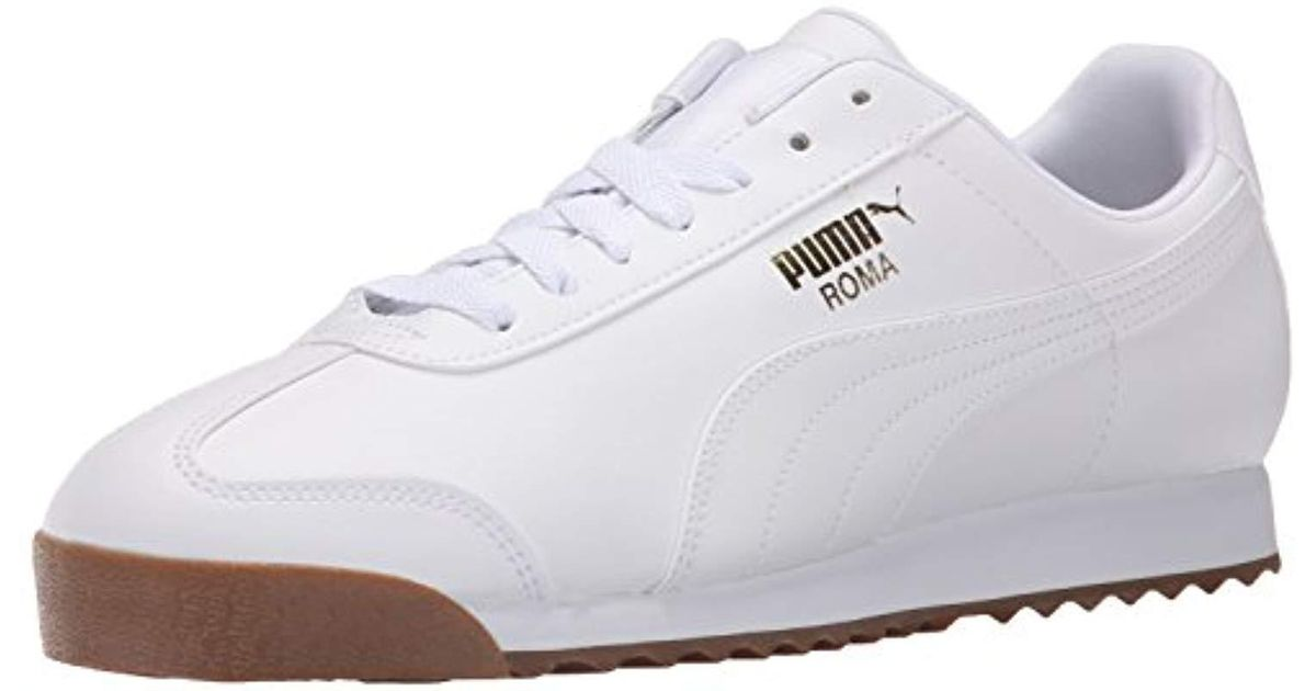 PUMA White Roma Basic Sneaker for men