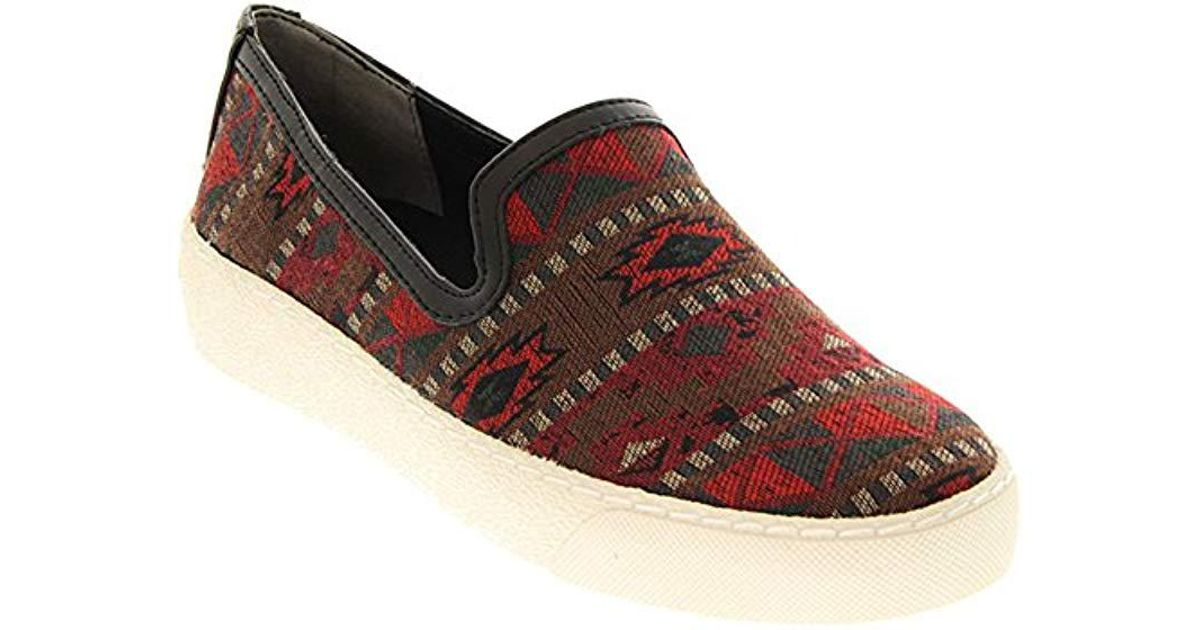 309ddf64bf564 Lyst - Sam Edelman Becker Fashion Sneaker in Red