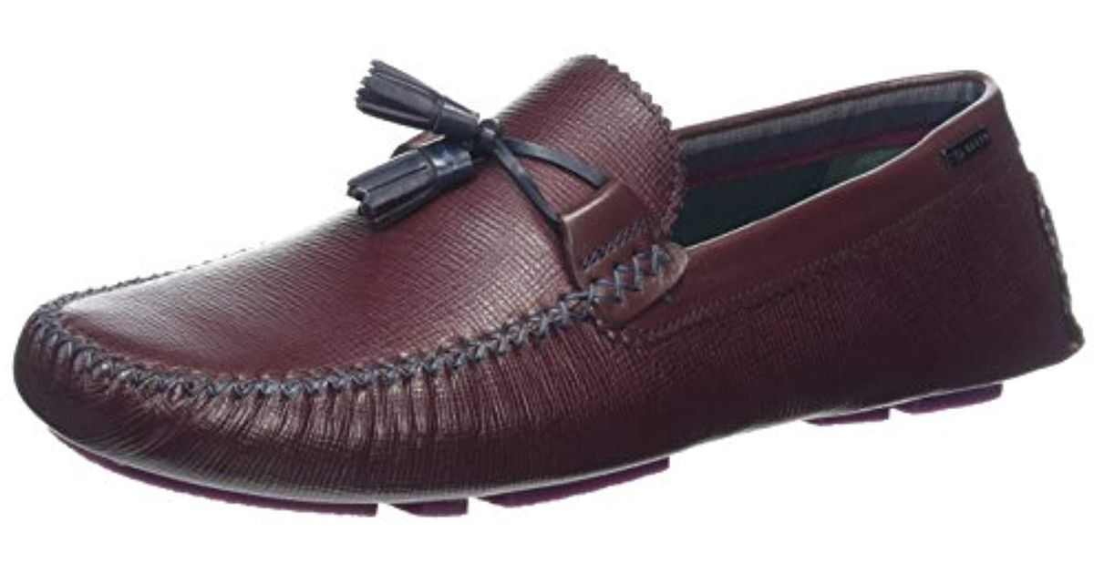 77e64c175 Ted Baker Mens Urbonn Loafers Shoes in Red for Men - Lyst