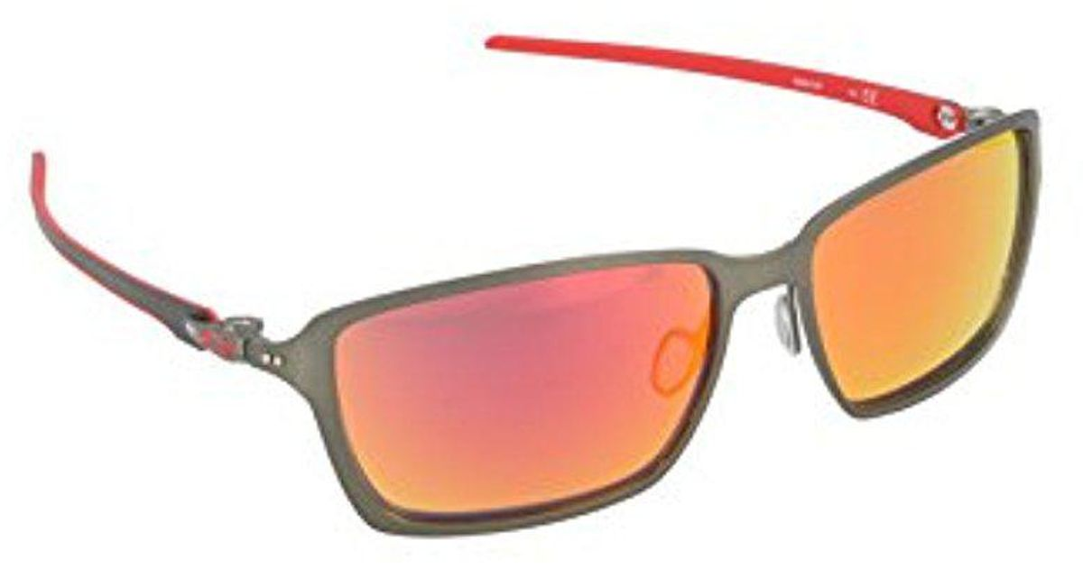 9984fe0dcb255 Lyst - Oakley Tincan Carbon Oo6017-07 Iridium Rectangular Sunglasses for Men