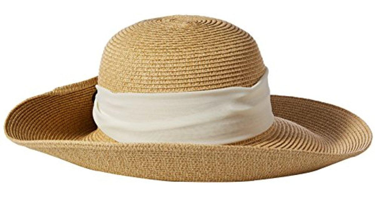 b3f429f39fba1 Nine West White Packable Tweed Floppy Hat With Scarf