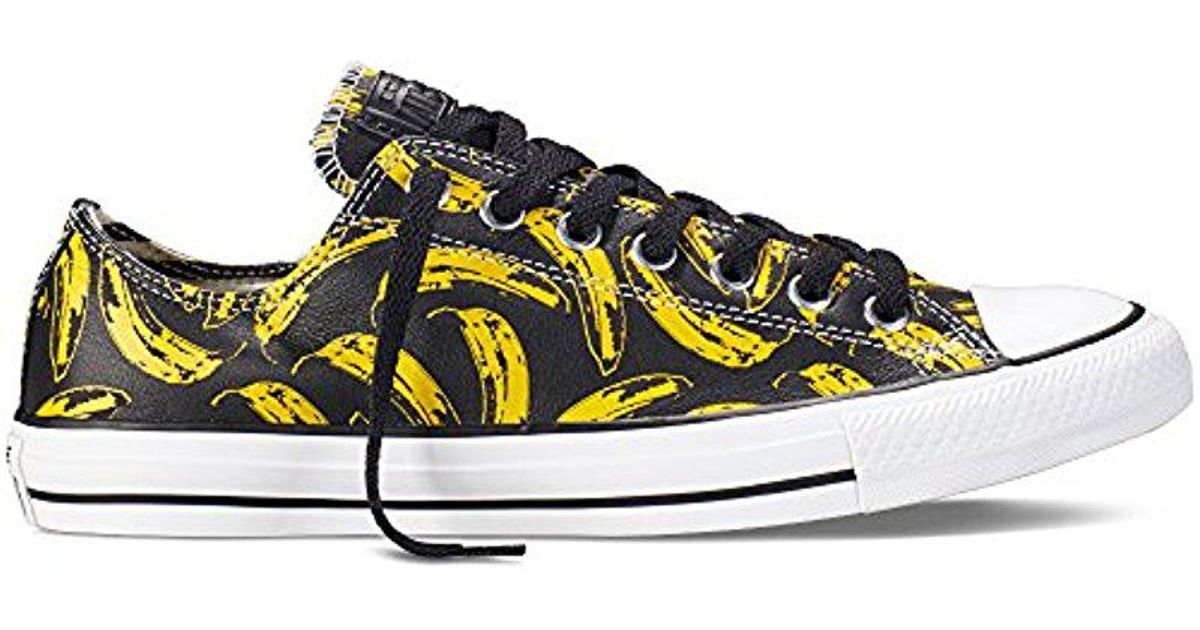 c5819eb3284a Lyst - Converse Andy Warhol Banana Leather Ox Sneakers in Black for Men
