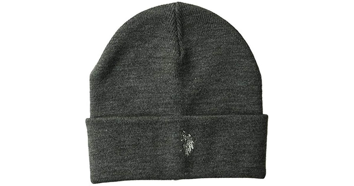 Lyst - U.S. POLO ASSN. Fine Knit Cuffed Winter Beanie 0777b3eba66